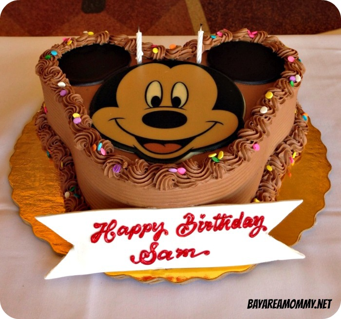 Chocolate Mickey Mouse Birthday Cake - Disneyland Plaza Inn character breakfast